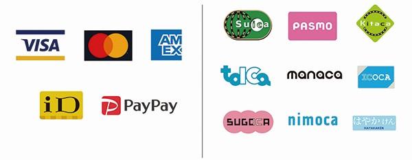 対応クレジットカード等支払い方法